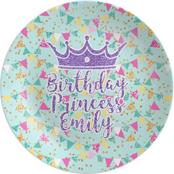 Birthday Princess Melamine Plate (Personalized)