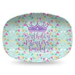Birthday Princess Plastic Platter - Microwave & Oven Safe Composite Polymer (Personalized)