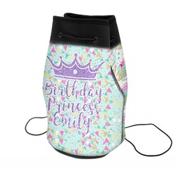 Birthday Princess Neoprene Drawstring Backpack (Personalized)