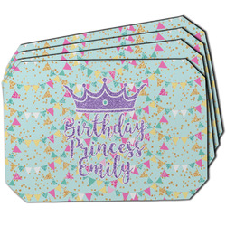 Birthday Princess Dining Table Mat - Octagon w/ Name or Text
