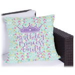 Birthday Princess Outdoor Pillow (Personalized)