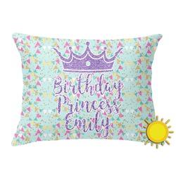 Birthday Princess Outdoor Throw Pillow (Rectangular) (Personalized)