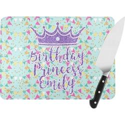 Birthday Princess Rectangular Glass Cutting Board (Personalized)