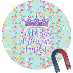 Birthday Princess Round Magnet (Personalized)