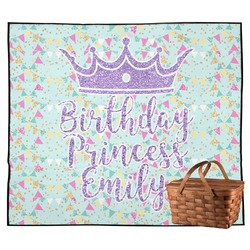 Birthday Princess Outdoor Picnic Blanket (Personalized)