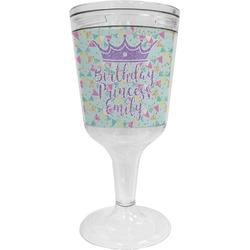 Birthday Princess Wine Tumbler - 11 oz Plastic (Personalized)