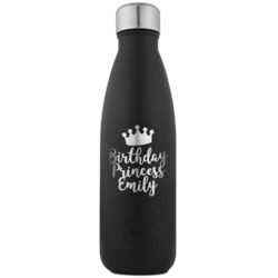 Birthday Princess RTIC Bottle - Black - Engraved Front (Personalized)