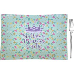 Birthday Princess Rectangular Glass Appetizer / Dessert Plate - Single or Set (Personalized)