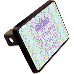 """Birthday Princess Rectangular Trailer Hitch Cover - 2"""" (Personalized)"""