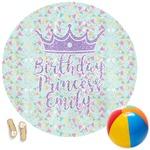 Birthday Princess Round Beach Towel (Personalized)
