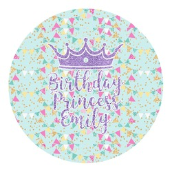 Birthday Princess Round Decal (Personalized)