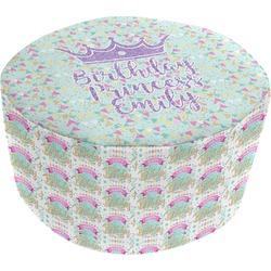 Birthday Princess Round Pouf Ottoman (Personalized)