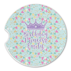 Birthday Princess Sandstone Car Coasters (Personalized)