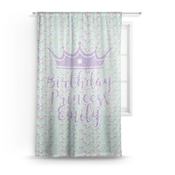 Birthday Princess Sheer Curtains (Personalized)