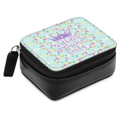 Birthday Princess Small Leatherette Travel Pill Case (Personalized)