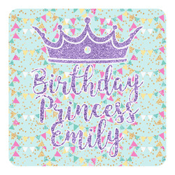Birthday Princess Square Decal - Custom Size (Personalized)