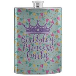 Birthday Princess Stainless Steel Flask (Personalized)
