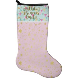 Birthday Princess Christmas Stocking - Neoprene (Personalized)