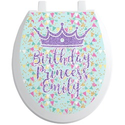 Birthday Princess Toilet Seat Decal (Personalized)