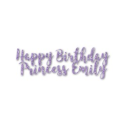 Birthday Princess Name/Text Decal - Custom Sized (Personalized)