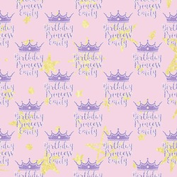 Birthday Princess Wrapping Paper (Personalized)