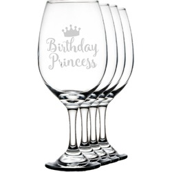 Birthday Quotes and Sayings Wineglasses (Set of 4) (Personalized)