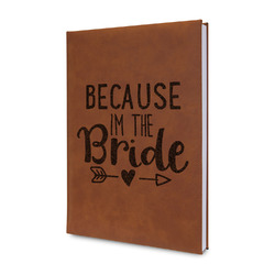 Bride / Wedding Quotes and Sayings Leatherette Journal (Personalized)