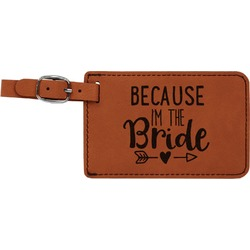 Bride / Wedding Quotes and Sayings Leatherette Luggage Tag (Personalized)