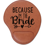 Bride / Wedding Quotes and Sayings Leatherette Mouse Pad with Wrist Support (Personalized)
