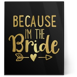 Bride / Wedding Quotes and Sayings 8x10 Foil Wall Art - Black (Personalized)
