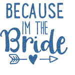 Bride / Wedding Quotes and Sayings Glitter Sticker Decal - Custom Sized (Personalized)