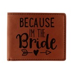Bride / Wedding Quotes and Sayings Leatherette Bifold Wallet (Personalized)