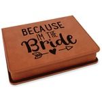 Bride / Wedding Quotes and Sayings Leatherette 4-Piece Wine Tool Set (Personalized)
