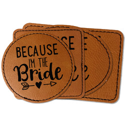 Bride / Wedding Quotes and Sayings Faux Leather Iron On Patch