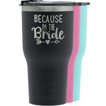 Bride / Wedding Quotes and Sayings RTIC Tumbler - Black (Personalized)