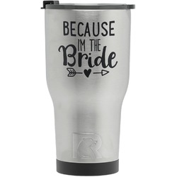 Bride / Wedding Quotes and Sayings RTIC Tumbler - Silver - Engraved Front (Personalized)