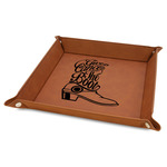 """Fighting Cancer Quotes and Sayings 9"""" x 9"""" Leather Valet Tray"""
