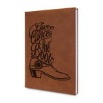 Fighting Cancer Quotes and Sayings Leatherette Journal (Personalized)