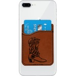 Fighting Cancer Quotes and Sayings Leatherette Phone Wallet (Personalized)