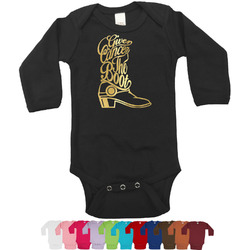 Fighting Cancer Quotes and Sayings Foil Bodysuit - Long Sleeves - 0-3 months - Gold, Silver or Rose Gold (Personalized)