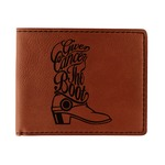 Fighting Cancer Quotes and Sayings Leatherette Bifold Wallet (Personalized)