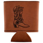 Fighting Cancer Quotes and Sayings Leatherette Can Sleeve (Personalized)