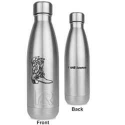 Fighting Cancer Quotes and Sayings RTIC Bottle - Silver - Engraved Front & Back (Personalized)
