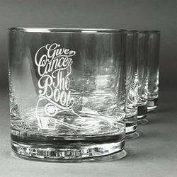 Fighting Cancer Quotes and Sayings Whiskey Glasses (Set of 4) (Personalized)