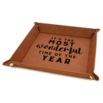 """Christmas Quotes and Sayings 9"""" x 9"""" Leather Valet Tray"""