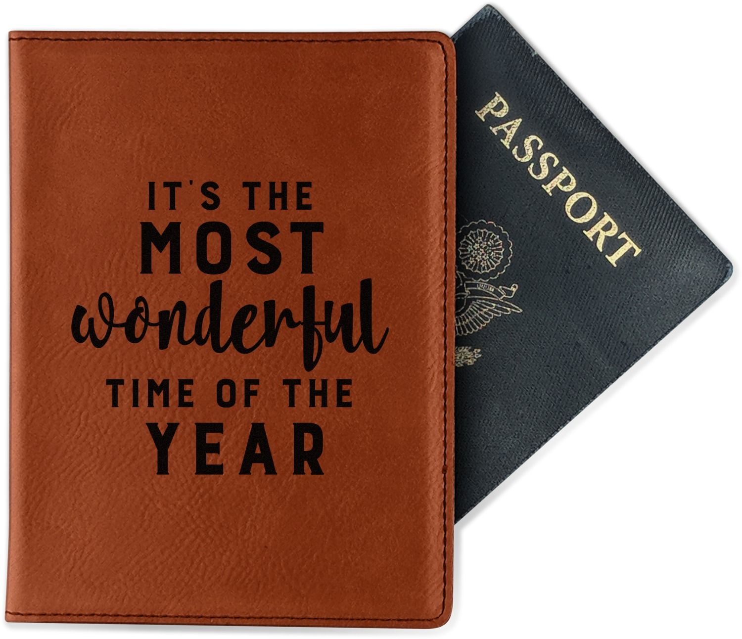 Cheer Genuine Leather Passport Cover Personalized