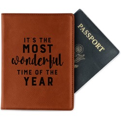 Christmas Quotes and Sayings Leatherette Passport Holder (Personalized)