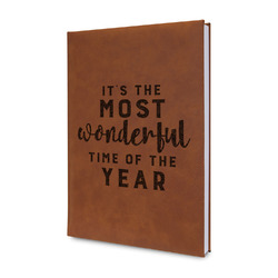Christmas Quotes and Sayings Leatherette Journal (Personalized)