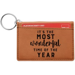 Christmas Quotes and Sayings Leatherette Keychain ID Holder (Personalized)