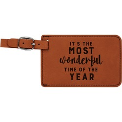 Christmas Quotes and Sayings Leatherette Luggage Tag (Personalized)